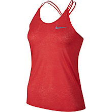 Buy Nike Dry Running Tank Top, Light Crimson Online at johnlewis.com