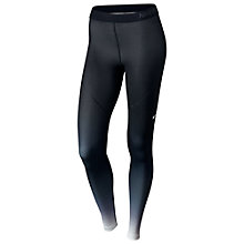 Buy Nike Pro Hyperwarm Running Tights, Black/White Online at johnlewis.com