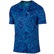 Buy Nike Dri-FIT Miler Short Sleeve Running Top Online at johnlewis.com