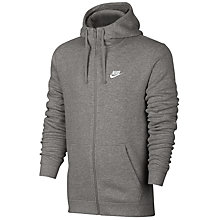 Buy Nike Sportswear Hoodie, Grey Online at johnlewis.com