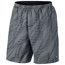 "Buy Nike Helix 7"" Flex Running Shorts, Cool Grey/Black Online at johnlewis.com"