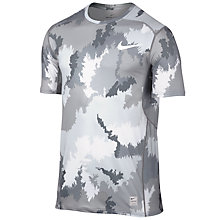 Buy Nike Pro Hypercool Camo Print Training Top, White/Cool Grey Online at johnlewis.com