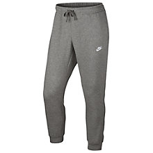 Buy Nike Training Trousers, Dark Grey Heather/White Online at johnlewis.com