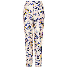 Buy L.K. Bennett Ine Silk Cotton Trousers, Multi Online at johnlewis.com
