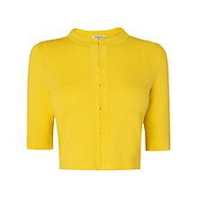 Buy L.K. Bennett Karin Hook And Eye Cardigan, Yellow Online at johnlewis.com