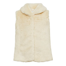 Buy John Lewis Girls' Faux Fur Gilet, Cream Online at johnlewis.com
