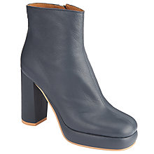 Buy See by Chloé Lisa Block Heeled Platform Ankle Boots, Navy Online at johnlewis.com