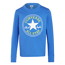 Buy Converse Boys' Chuck Taylor Patch Long Sleeve Top, Blue/Multi Online at johnlewis.com