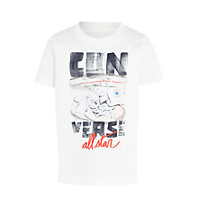 Buy Converse Boys' Stacked Sneakers T-Shirt, White/Multi Online at johnlewis.com