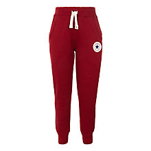 Buy Converse Boys' Ribbed Cuffs Joggers, Red/Multi Online at johnlewis.com