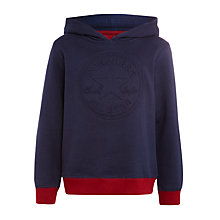 Buy Converse Boys' Emboss Chuck Hoodie, Navy Online at johnlewis.com