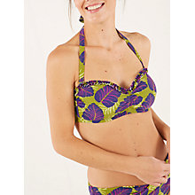 Buy White Stuff Desert Leaf Bikini Top, Pickle Green Online at johnlewis.com