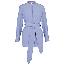 Buy Whistles Lara Pinstripe Shirt, Blue/Multi Online at johnlewis.com