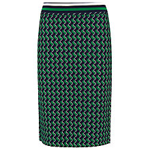 Buy Whistles Jacquard Skirt, Green/Multi Online at johnlewis.com
