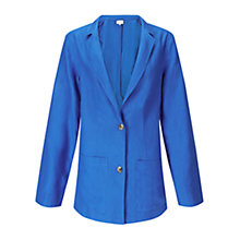 Buy East Linen Boyfriend Jacket, Blue Online at johnlewis.com
