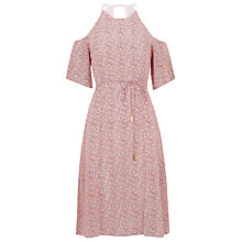 Buy Whistles Double Dot Silk Dress, Pink Online at johnlewis.com