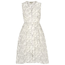 Buy Whistles Marrion Double Layer Dress, Ivory Online at johnlewis.com