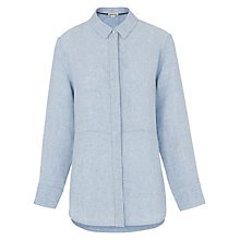 Buy Whistles Alice Linen Shirt, Blue Online at johnlewis.com