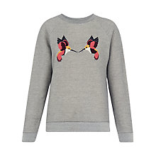 Buy Whistles Hummingbirds Jumper, Grey Marl Online at johnlewis.com