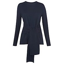 Buy Whistles Tie Front Long Sleeve Knit Top Online at johnlewis.com