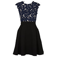Buy Whistles Maya Lace Dress, Navy/Black Online at johnlewis.com