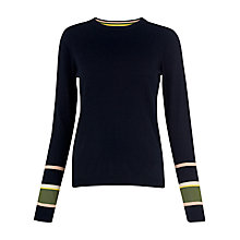 Buy Whistles Stripe Cuff Jumper, Navy Online at johnlewis.com
