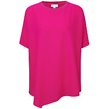 Buy Pure Collection Caitlin Silk Poncho Top, Summer Pink Online at johnlewis.com