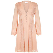 Buy Ghost Robyn Dress, Pink Sand Online at johnlewis.com
