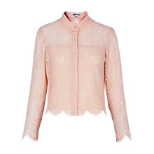 Buy Whistles Chay Lace Shirt, Pale Pink Online at johnlewis.com