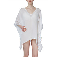 Buy Ghost Ilona Kaftan Dress, White Online at johnlewis.com
