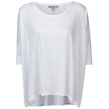 Buy Pure Collection Luxury Linen Poncho Top, White Online at johnlewis.com