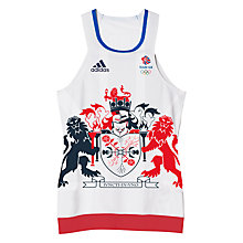 Buy Adidas Team GB Women's Tennis Tank Top, White/Blue Online at johnlewis.com