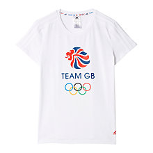 Buy Adidas Team GB Women's T-Shirt, White Online at johnlewis.com