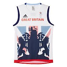 Buy Adidas Team GB Men's Vest, White/Blue Online at johnlewis.com