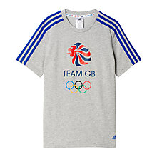 Buy Adidas Boys' Team GB T-Shirt, Grey Online at johnlewis.com