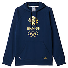 Buy Adidas Team GB Hoodie, Navy/Gold Online at johnlewis.com