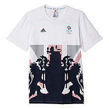 Buy Adidas Team GB Men's T-Shirt, White/Multi Online at johnlewis.com