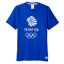 Buy Adidas Team GB Men's T-Shirt, Blue Online at johnlewis.com