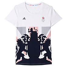 Buy Adidas Team GB T-Shirt, White/Multi Online at johnlewis.com