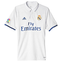 Buy Adidas 2016/17 Real Madrid Home Football Jersey, White/Purple Online at johnlewis.com