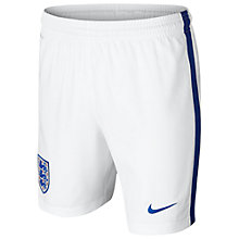 Buy Nike Boys' England Football Team Shorts, White Online at johnlewis.com