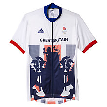 Buy Adidas Team GB Men's Cycle Jersey, White/Blue Online at johnlewis.com