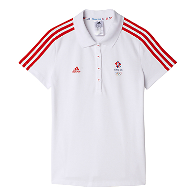 Adidas Team GB Women's Polo Shirt, White