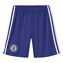 Buy Adidas Boys' Chelsea Football Club Home Replica Shorts, Blue/White Online at johnlewis.com