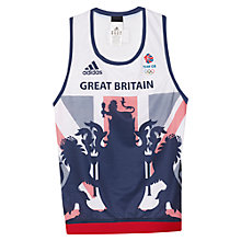 Buy Adidas Team GB Women's Vest, White/Blue Online at johnlewis.com