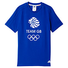 Buy Adidas Boys' Team GB T-Shirt, Blue Online at johnlewis.com
