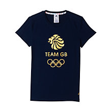 Buy Adidas Team GB T-Shirt, Navy/Gold Online at johnlewis.com