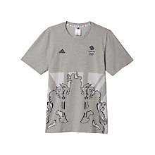 Buy Adidas Team GB Crest Men's T-Shirt Online at johnlewis.com