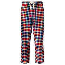 Buy John Lewis Truro Check Brushed Cotton Lounge Pants, Red Online at johnlewis.com