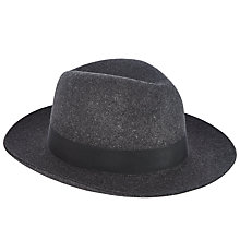 Buy Christys' Grosvenor Fedora Hat, Charcoal Online at johnlewis.com